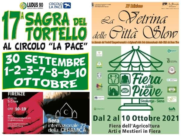 Eventi Toscana Weekend 1 2 3 Ottobre 2021