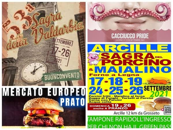 Eventi Toscana Weekend 17 18 19 Settembre 2021