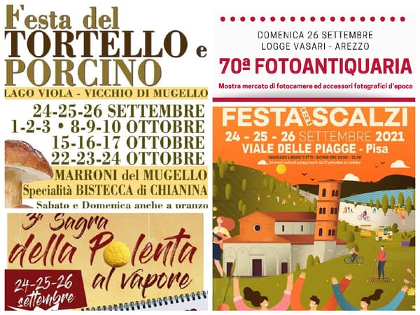 Eventi Toscana Weekend 24 25 26 Settembre 2021
