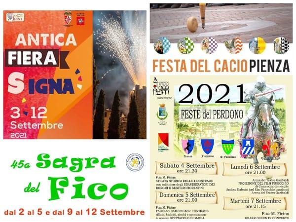 Eventi Toscana Weekend 3 4 5 Settembre 2021