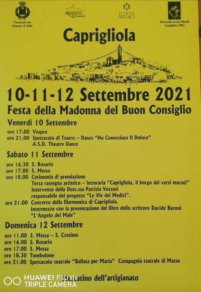 Festa della Madonna Caprigliola 2021