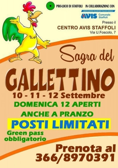 Sagra del Gallettino Staffoli 2021