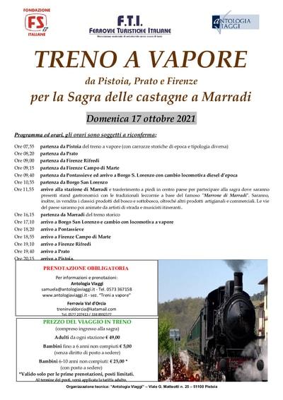 Treno a Vapore Sagra di Marradi 2021