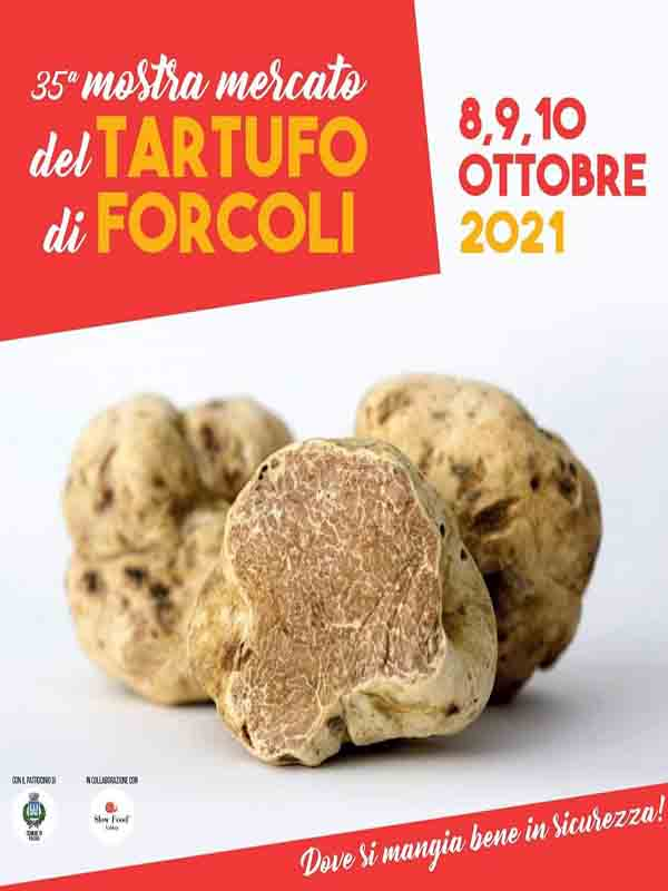 Manifesto 35° Mostra Mercato del Tartufo di Forcoli 2021 a Palaia