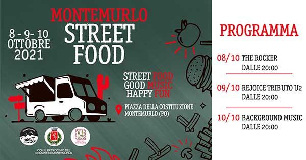 Montemurlo Street Food 8-9 e 10 Ottobre 2021