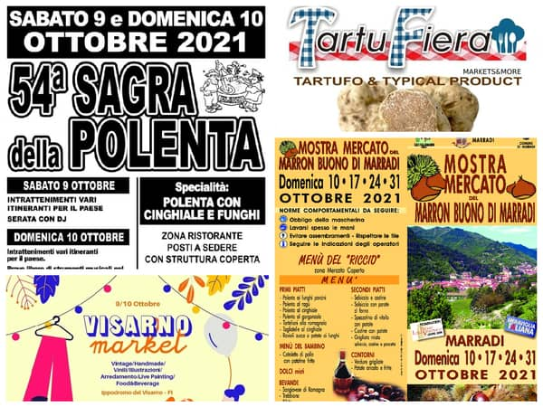 Eventi Toscana Weekend 8 9 10 Ottobre 2021