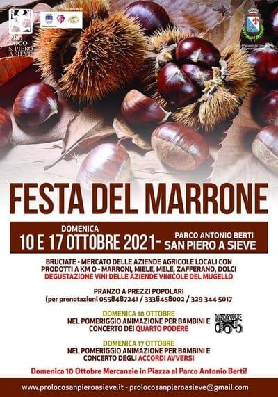 Festa Marrone San Piero a Sieve 2021