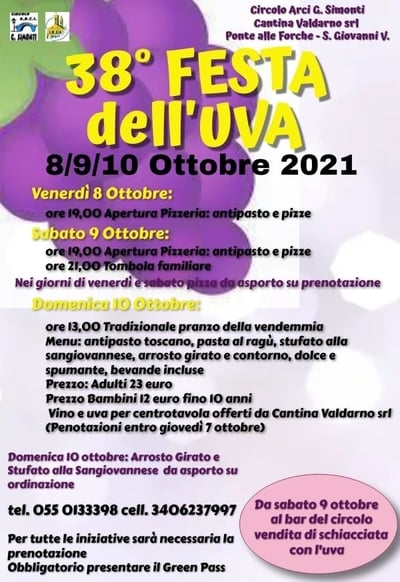 Festa Uva San Giovanni Valdarno 2021