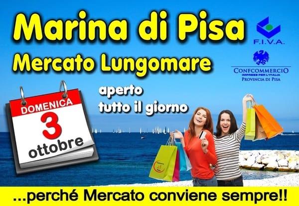 Mercato Marina Pisa Lungomare 3 ottobre 2021