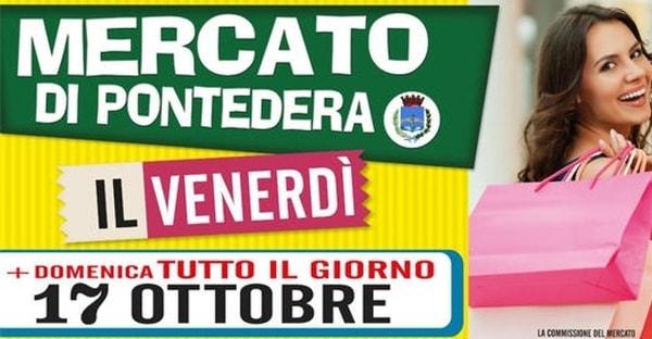 Mercato Pontedera Domenica 17 Ottobre 2021
