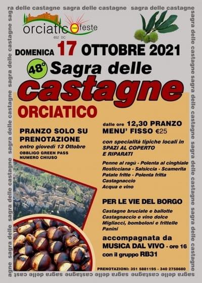 Sagra Castagne Orciatico 2021