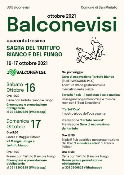 Sagra Tartufo Bianco Balconevisi 2021